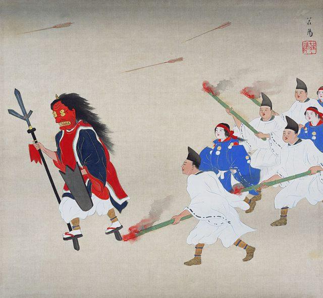 𠮷田神社の節分祭